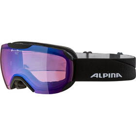 Alpina Pheos S QVMM Goggles black matt blue spherical